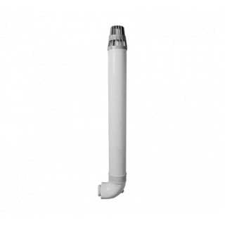 Коаксиальный горизонтальный комплект дымохода